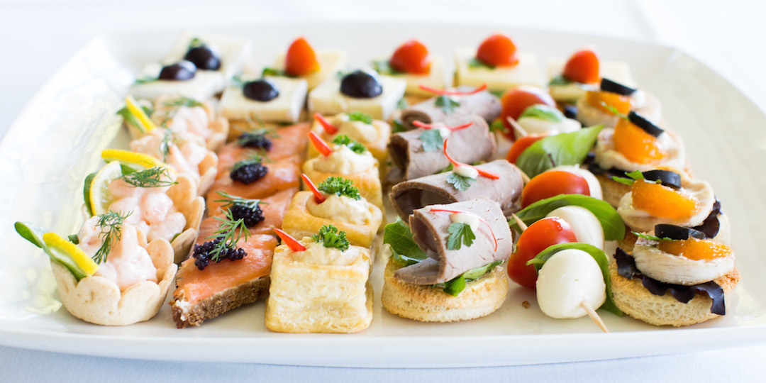Lady and the vine services for Canape catering london